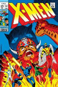 X-Men No.51 Cover: Erik The Red, Cyclops, Angel, Iceman and X-Men by Arnold Drake