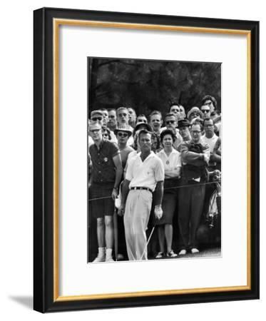Arnold Palmer After Winning the Masters Tournament-George Silk-Framed Premium Photographic Print