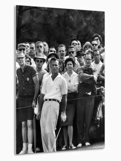 Arnold Palmer After Winning the Masters Tournament-George Silk-Metal Print
