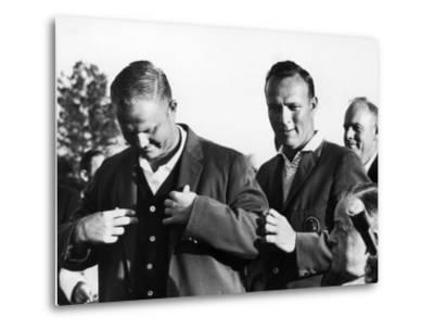 Arnold Palmer Helping Winner of the Masters Golf Tournament Jack Nicklaus