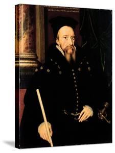 Portrait of William Cecil, 1st Baron Burghley (1520-98) Lord High Treasurer by Arnold von Bronckhorst