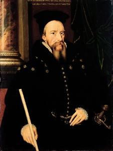 Portrait of William Cecil, 1st Baron Burghley (1520-98) Lord High Treasurer by Arnold von Bronckhorst
