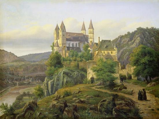 Arnstein Abbey. 1835-Carl Friedrich Lessing-Giclee Print