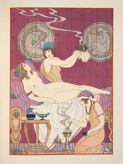 Aromatic Fumigations, Illustration from 'The Works of Hippocrates', 1934 (Colour Litho)-Joseph Kuhn-Regnier-Giclee Print