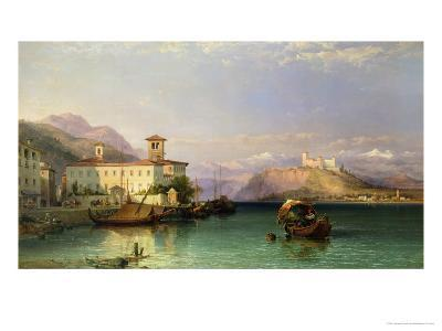 Arona and the Castle of Angera, Lake Maggiore, 1856-George Edwards Hering-Giclee Print