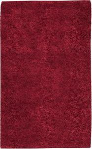 Aros Felted Plush Rug - Ruby Red 5' x 8'