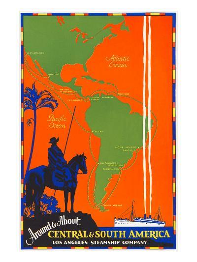 Around and About Central and South America Travel Poster--Art Print