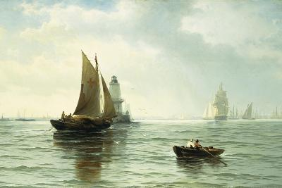 Around the Lighthouse-Edward Moran-Giclee Print
