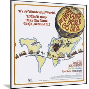 Beautiful Around the World in 80 Days (1956) specialty artwork for ...
