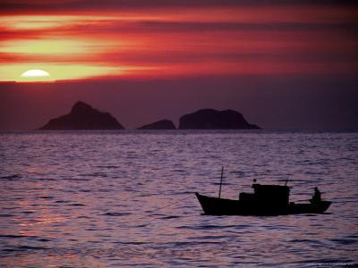 Arpoador Beach, Cagaras Island, Rio de Janeiro, Brazil-Silvestre Machado-Photographic Print