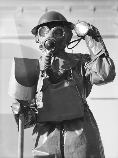 Arps in Gas Masks During World War Ii During Decontamination Exercise-Robert Hunt-Photographic Print