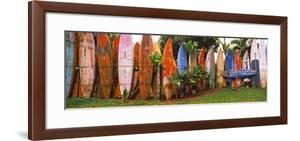 Arranged Surfboards, Maui, Hawaii, USA