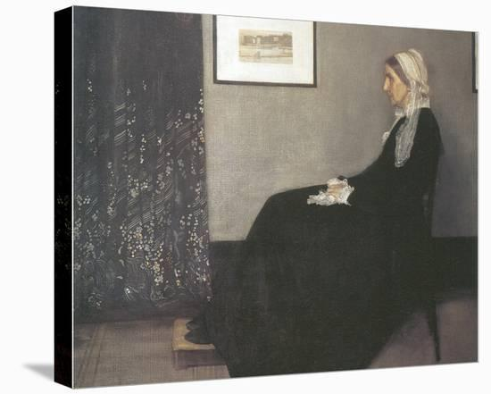 Arrangement In Grey and Black, No.1: Portrait Of The Artist's Mother-James Abbott McNeill Whistler-Stretched Canvas Print