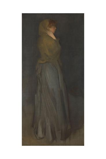 'Arrangement in Yellow and Gray': Effie Deans, c.1876-78-James Abbott McNeill Whistler-Giclee Print