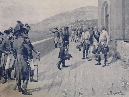 'Arranging for Masséna's Capitulation at Cornigliano, Near Genoa', 1896-Unknown-Giclee Print