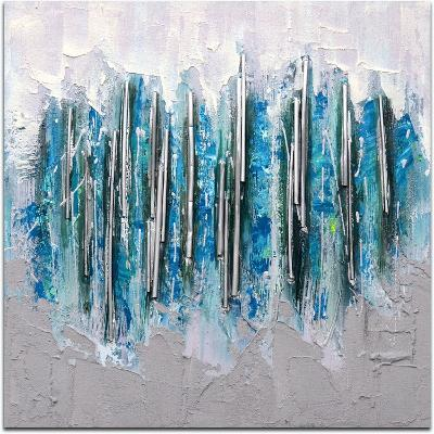 Array in Silver Icicles--Hand Painted Art