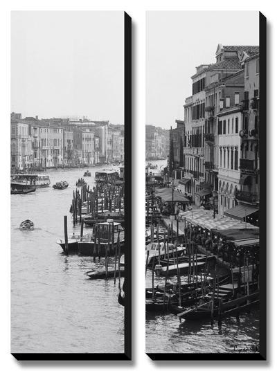 Array of Boats, Venice-Cyndi Schick-Canvas Art Set