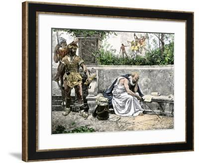 Arrest of Archimedes, Leading to His Death--Framed Giclee Print