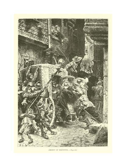 Arrest of Broussel--Giclee Print