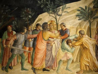Arrest of Jesus and Judas' Kiss, Fresco 1437-45, Dormitory, Convent of San Marco, Florence, Italy-Fra Angelico-Giclee Print