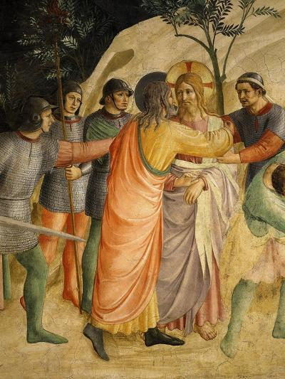 Arrest of Jesus and Judas' Kiss, Fresco 1437-45-Fra Angelico-Giclee Print