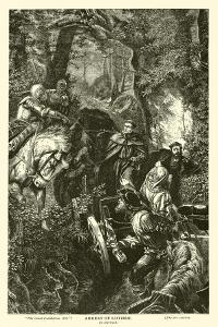 Arrest of Luther, by Harrach