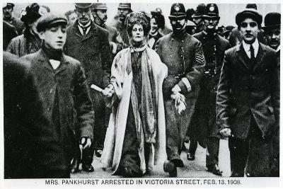 Arrest of Mrs Emmeline Pankhurst in Victoria Street, 13th February 1908--Giclee Print