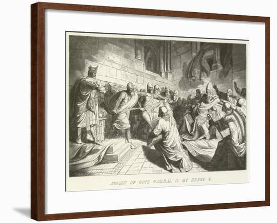 Arrest of Pope Paschal II by Henry V--Framed Giclee Print