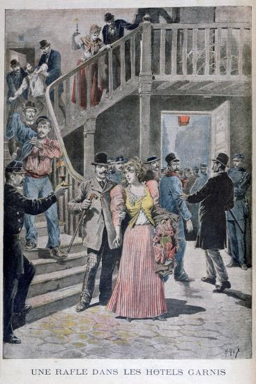 Arrest of Prostitutes in a Parisian Hotel, 1895-Henri Meyer-Giclee Print
