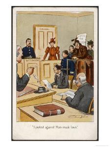 Arrested Suffragette in the Dock: I Protest Against Man- Made Laws!