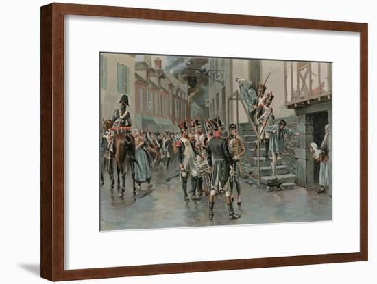 Arresting Deserters-Thure De Thulstrup-Framed Giclee Print