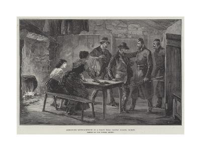 Arresting Moonlighters in a Cabin Near Castle Island, Kerry--Giclee Print