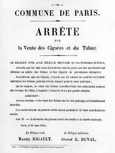 Arrete Sur La Vente Des Cigares Et Du Tabac