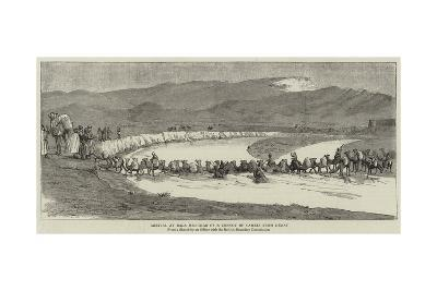 Arrival at Bala Murghab of a Convoy of Camels from Herat--Giclee Print