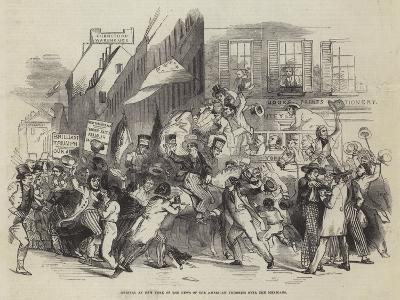 Arrival at New York of the News of the American Victories over the Mexicans--Giclee Print