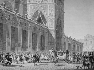 Arrival at Notre Dame, 2nd December, 1804, 19th Century--Giclee Print