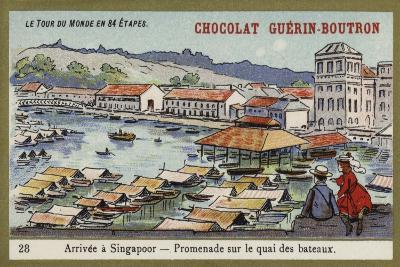 Arrival at Singapore - a Walk Along the Quay--Giclee Print
