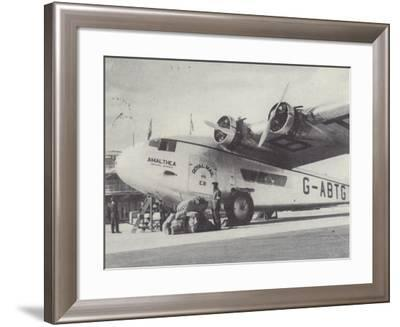 Arrival of Air Mails, Rand Airport, Johannesburg, South Africa--Framed Photographic Print