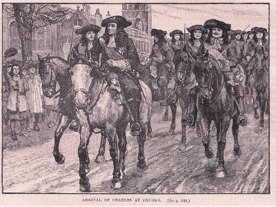 Arrival of Charles at Oxford Ad 1681-William Barnes Wollen-Giclee Print