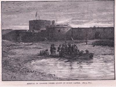 Arrival of Charles I under Guard at Hurst Castle Ad 1648-Paul Hardy-Giclee Print