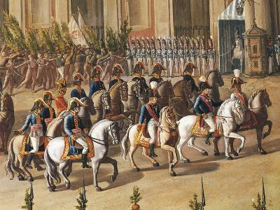 Arrival of Ferdinand I of Bourbon at the Royal Palace of Naples-Aniello De Aloysio-Giclee Print