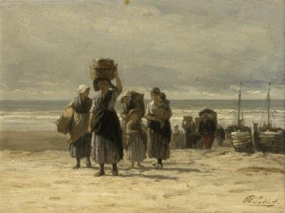 Arrival of Fishing Smacks, C.1875-Philip Lodewijk Jacob Frederick Sadee-Giclee Print