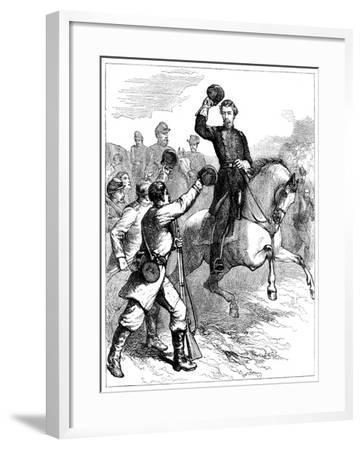 Arrival of General Mcclellan at Williamsburg, Virginia, 1862--Framed Giclee Print
