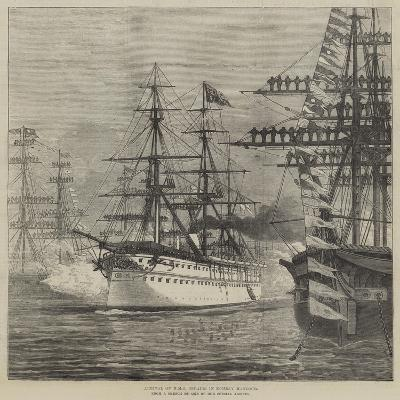 Arrival of HMS Serapis in Bombay Harbour--Giclee Print