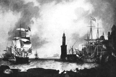 Arrival of HMS 'Vanguard'--Giclee Print