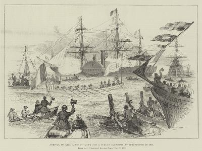Arrival of King Louis Philippe and a French Squadron at Portsmouth in 1844--Giclee Print