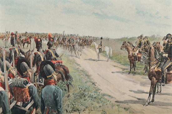 'Arrival of Napoleon Among The Bavarians and Saxons', 1896-Unknown-Giclee Print