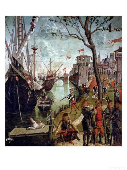 Arrival of St.Ursula During the Siege of Cologne, from the St. Ursula Cycle, 1498-Vittore Carpaccio-Giclee Print