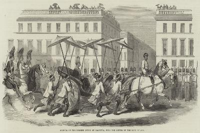 Arrival of the Birmese Envoy at Calcutta, with the Letter of the King of Ava--Giclee Print
