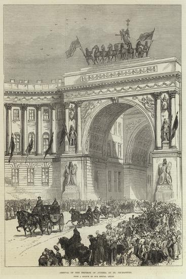 Arrival of the Emperor of Austria at St Petersburg--Giclee Print